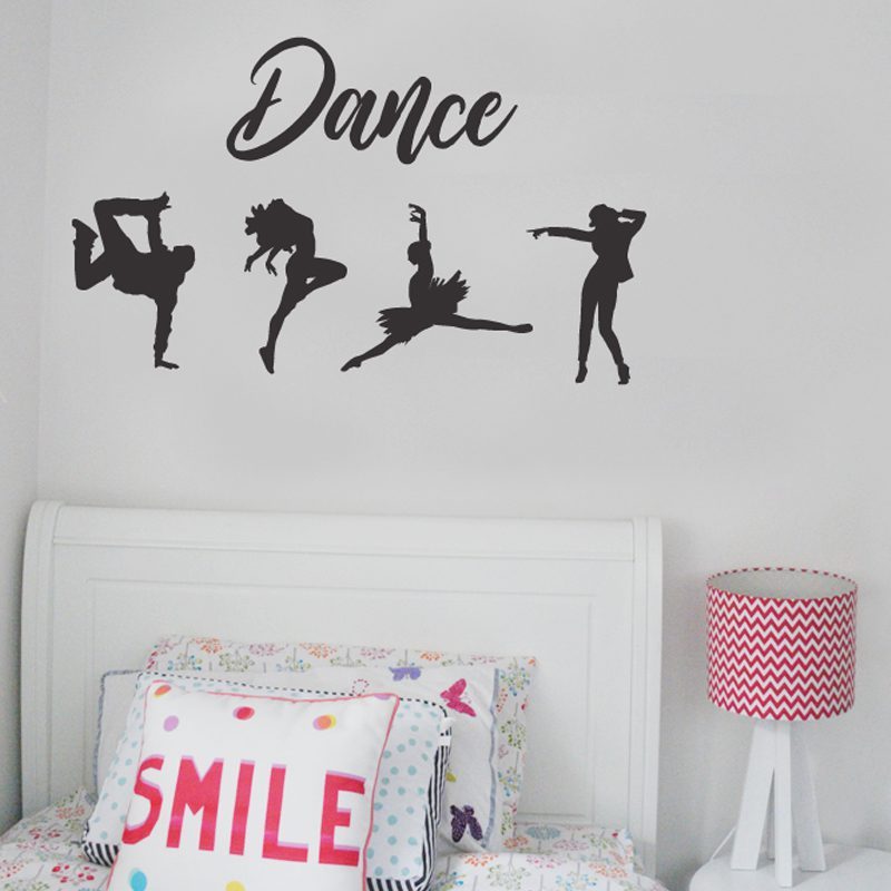 Dance Silhouette Wall Stickers Removable Made In Australia