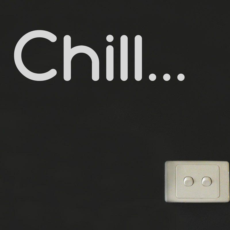 chill wall sticker