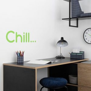 chill removable wall decal