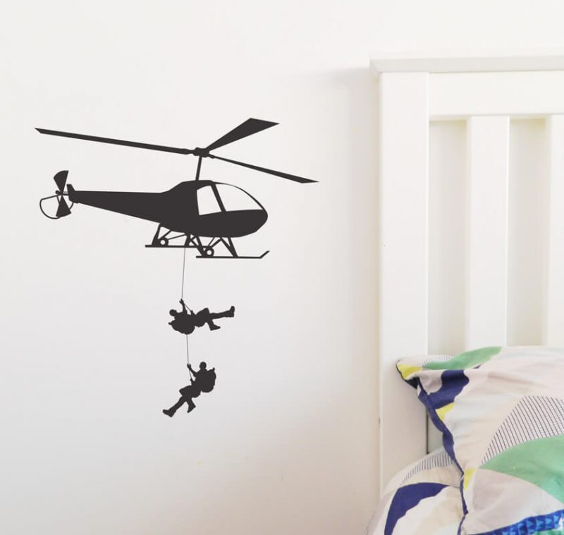 helicopter bear grylls survival men decal