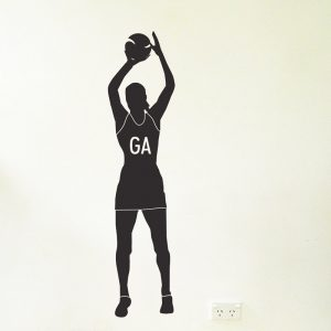 netballer wall sticker