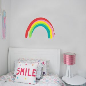 rainbow painted wall sticker