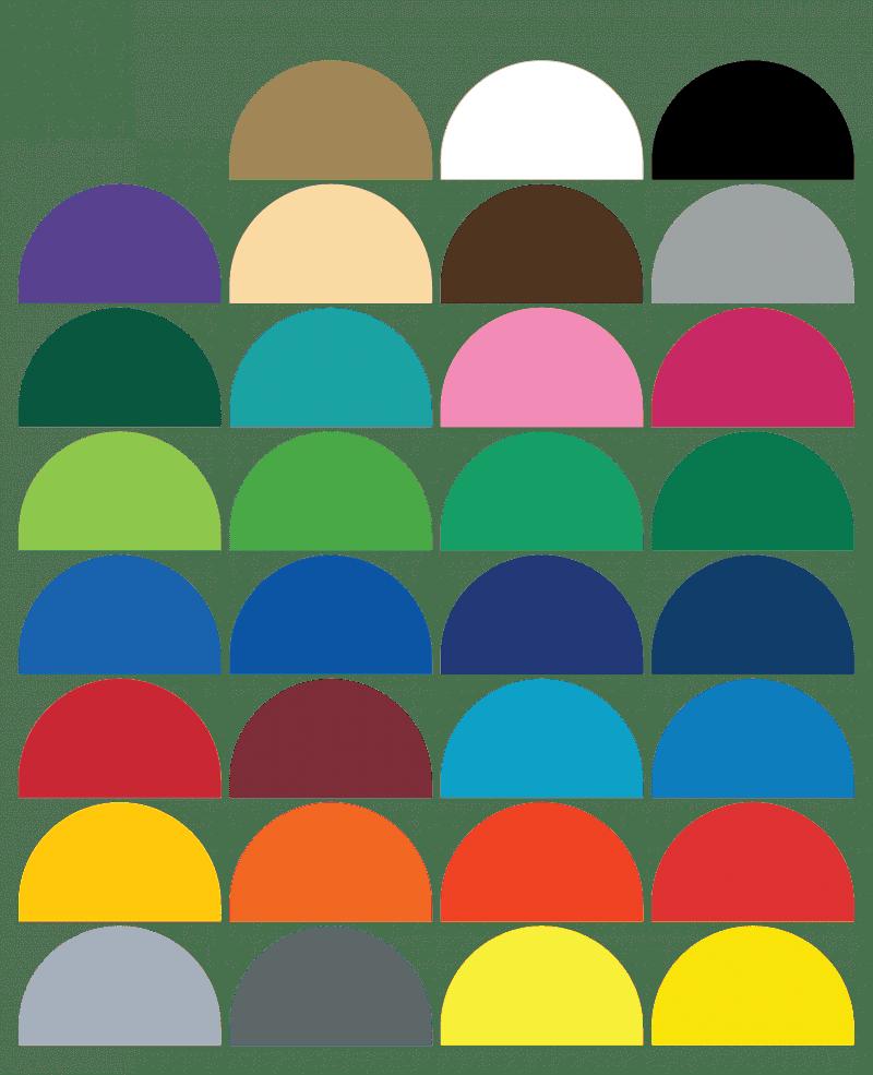 scallop wall sticker colours