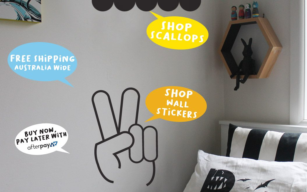 fun wall stickers for kid's | removable wall decals | kid's decor