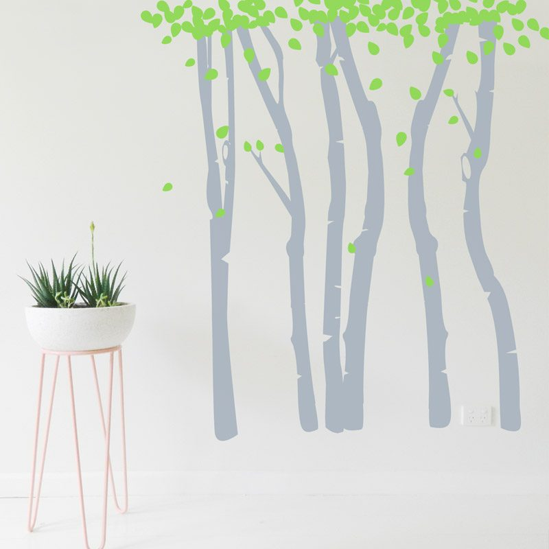 birch tree forest wall sticker