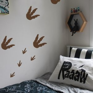 dinosaur footprint wall stickers fossil