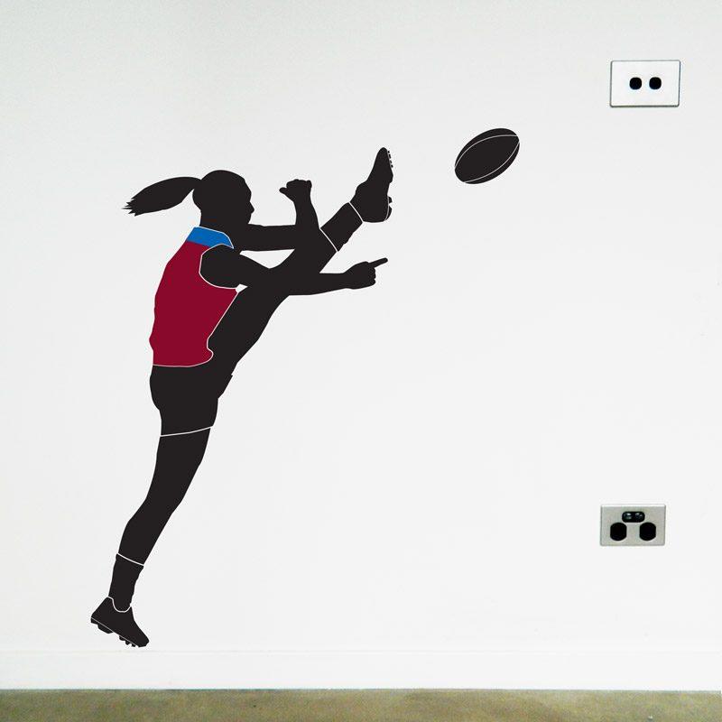 australian football womens player wall sticker brisbane lions