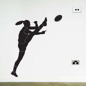 australian football women's player wall sticker