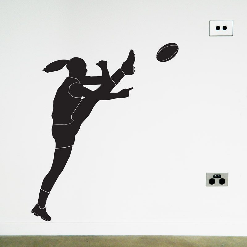 australian football women's player wall sticker