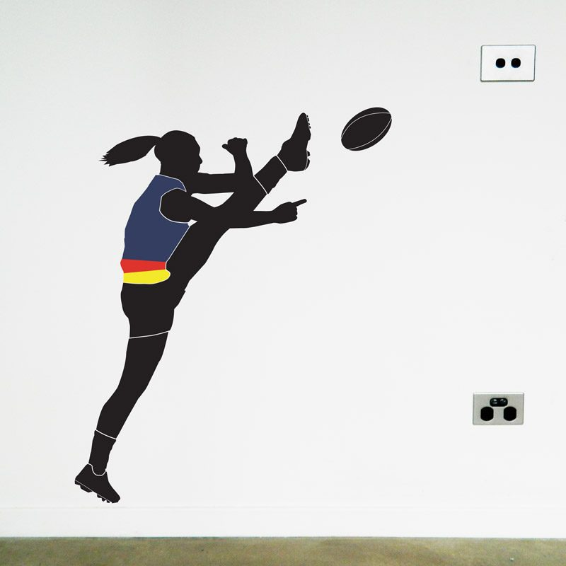 australian football women's player adelaide crows wall sticker