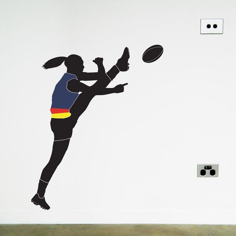 australian football women's player adelaide crows wall sticker