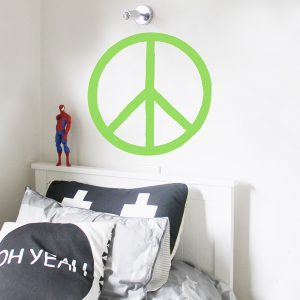 peace sign hand painted wall sticker