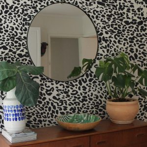 leopard print wall sticker