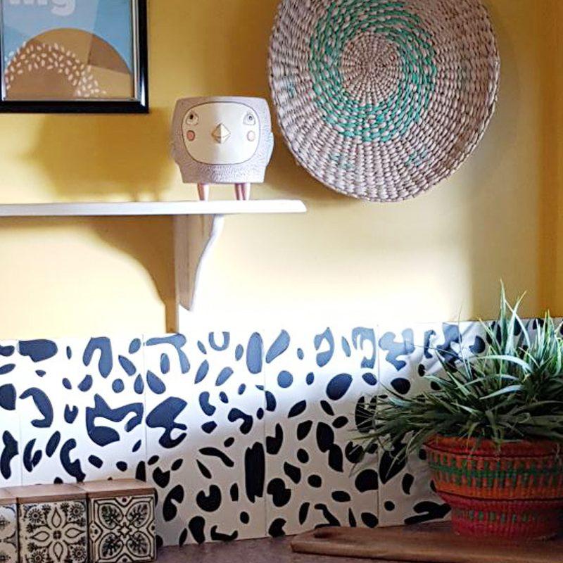 leopard print wall sticker tils