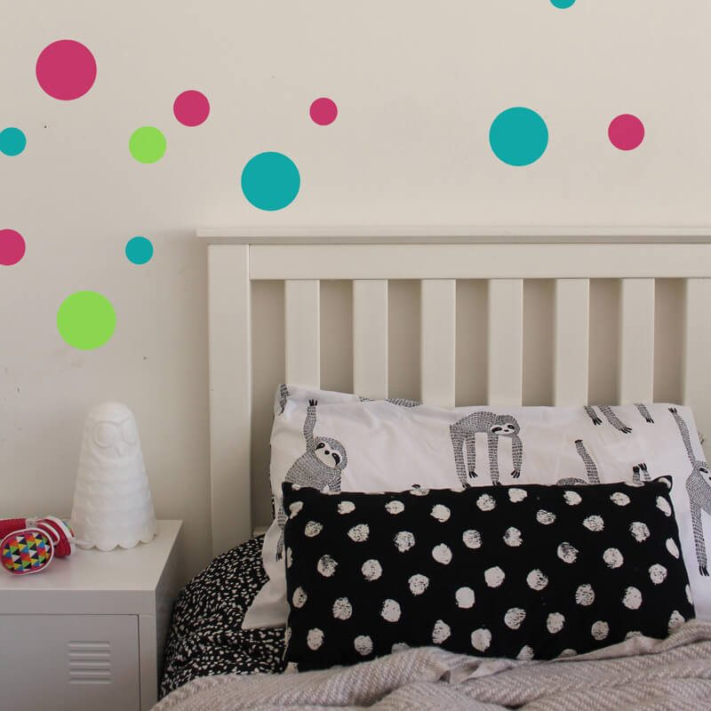mixed sized dot wall decals