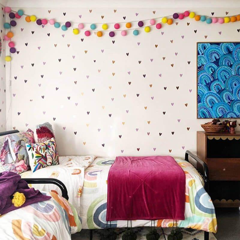 love heart wall decals