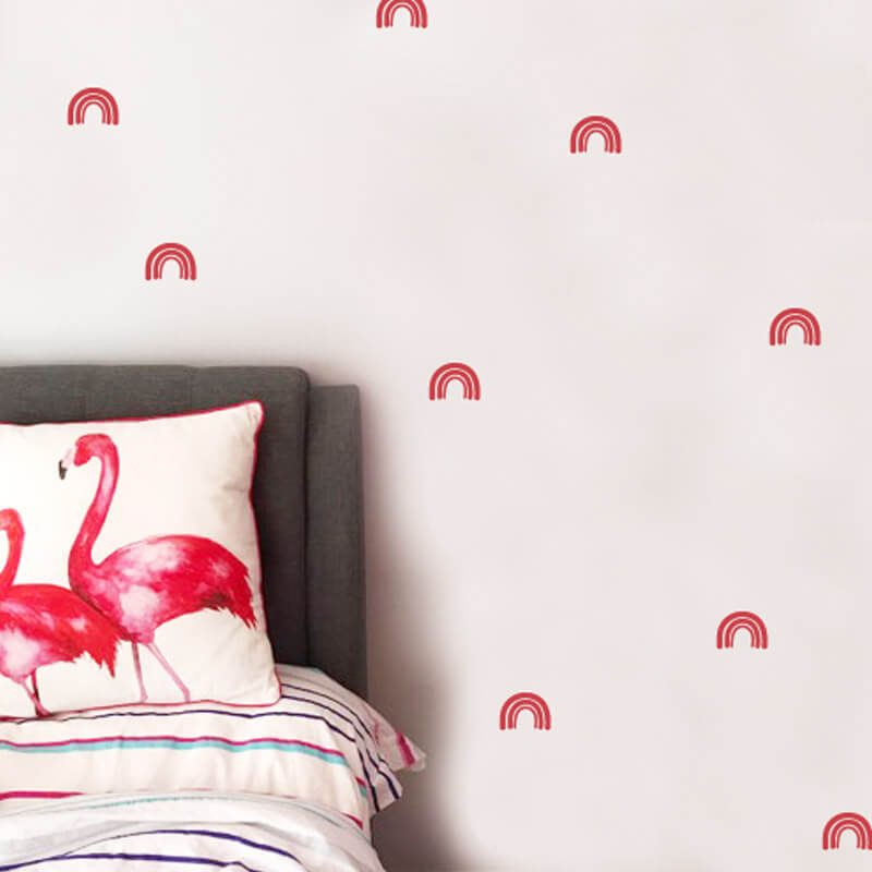 rainbow wall decals small