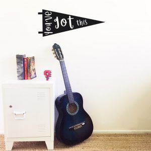 triangle wall pennant wall decal