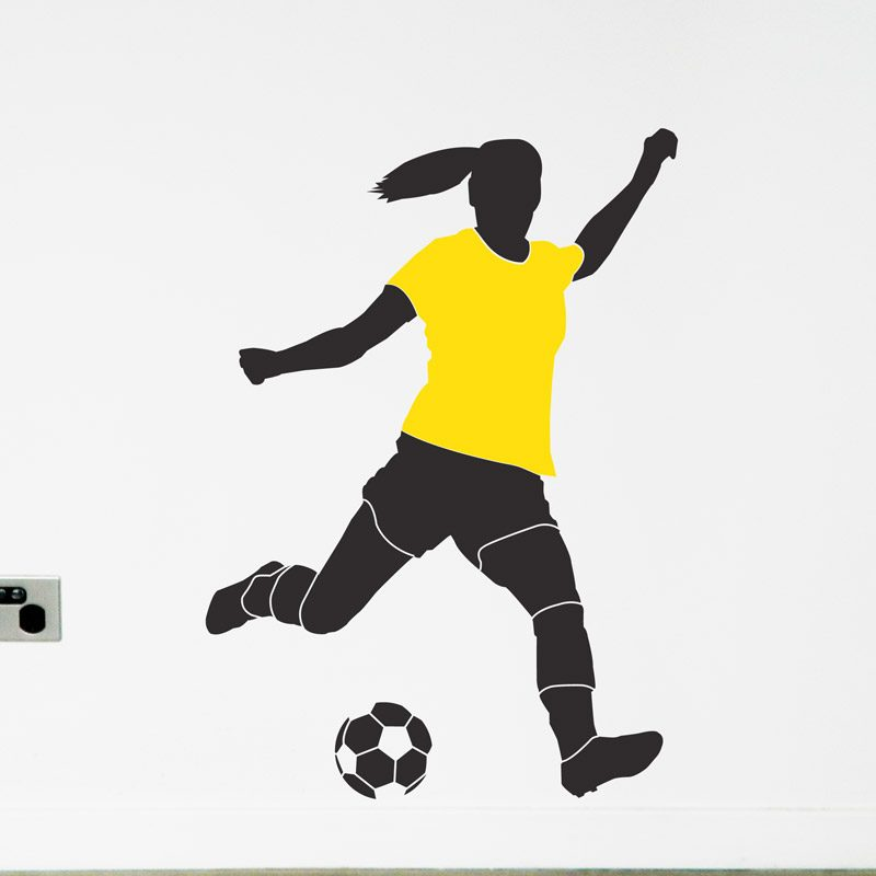 women's soccer player australia wall decal