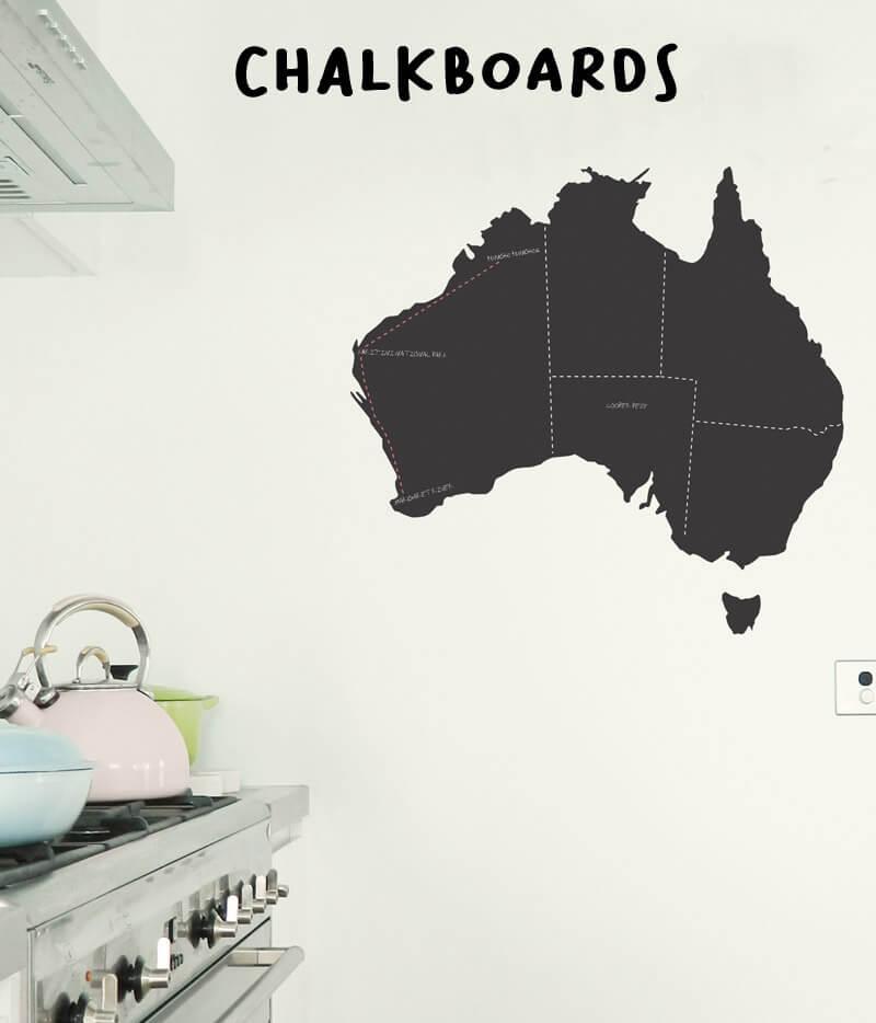kid's wall stickers chalkboard wall stickers Australian Map