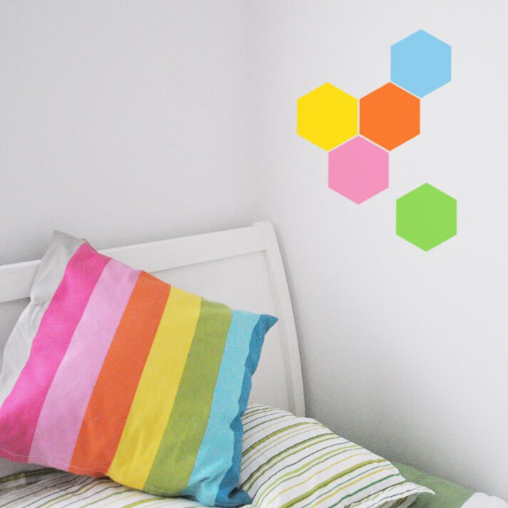 hexagon wall decal