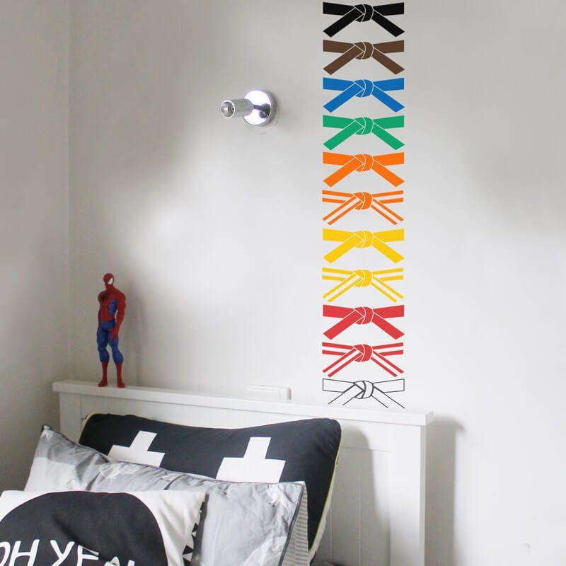 karate belts wall sticker