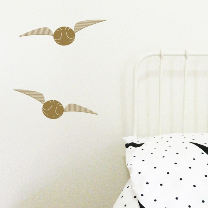 flying golden snitch wall decals