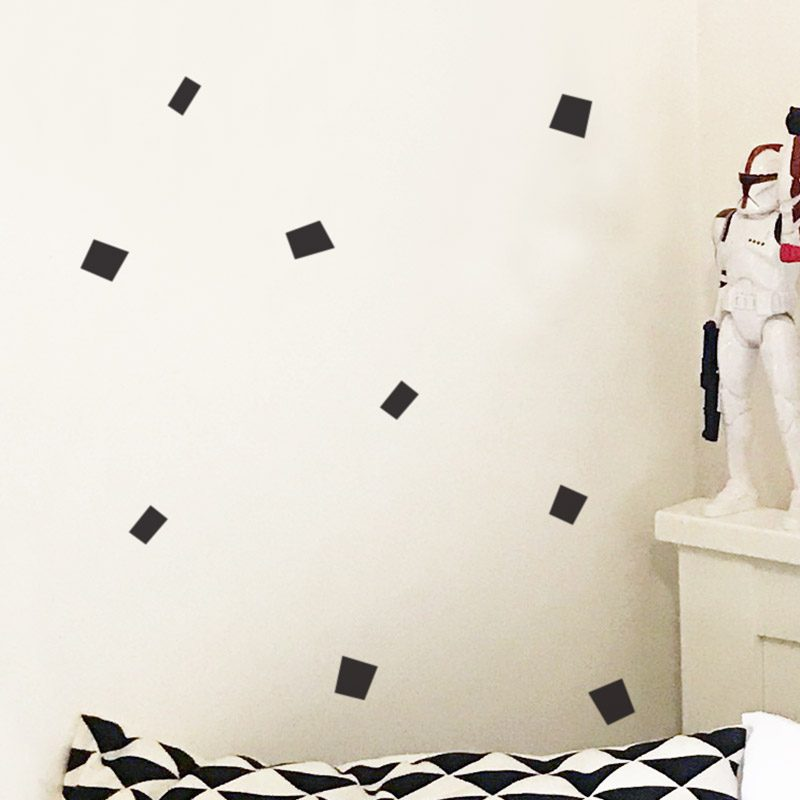 removable rectangle wall decals