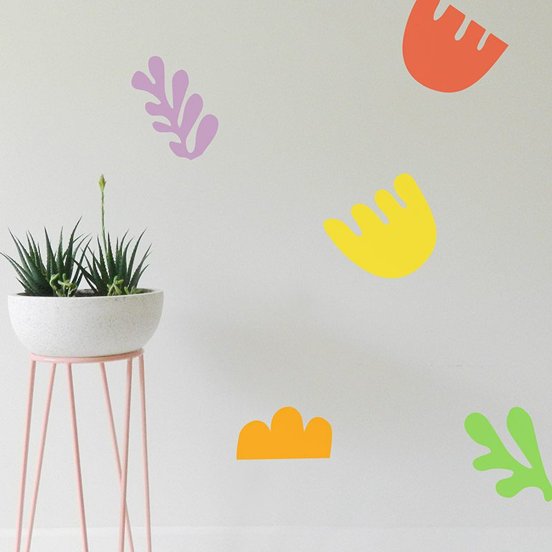 removable colourful funky shapes