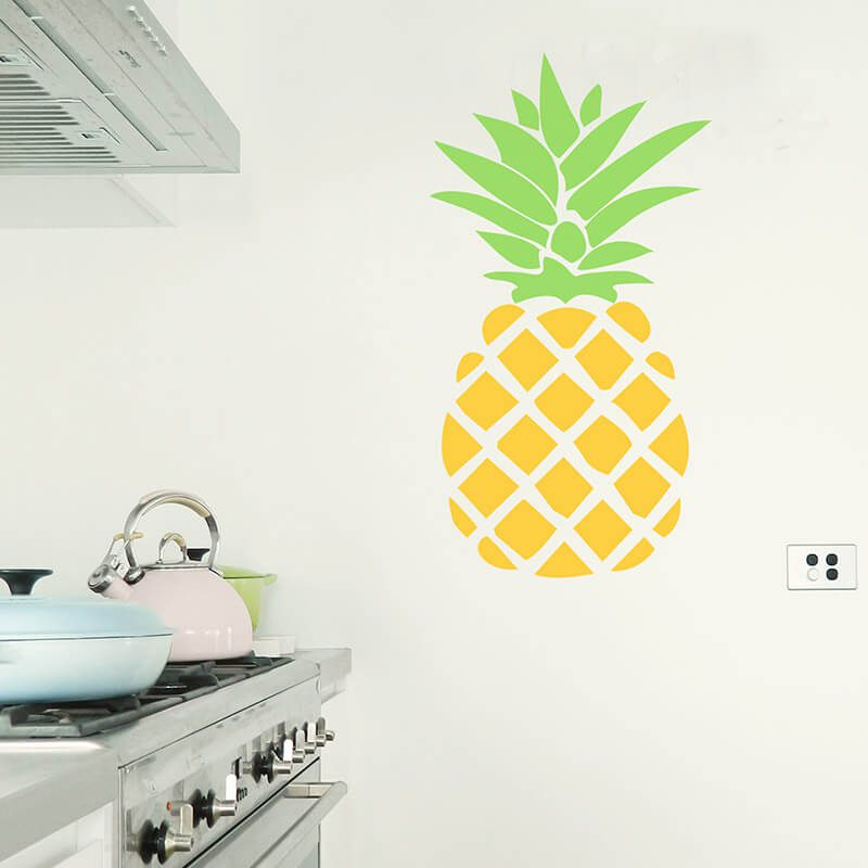 removable large pineapple wall decal
