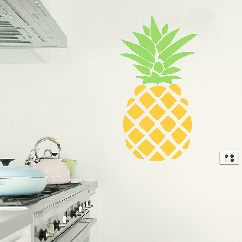 large removable pineapple decal