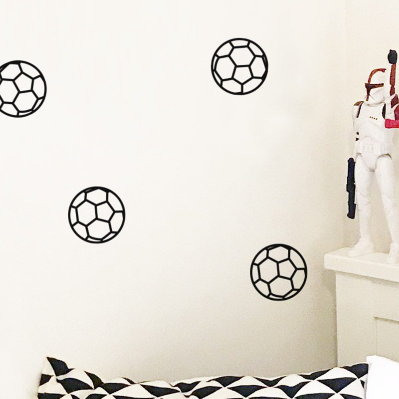 removable soccer ball wall decals