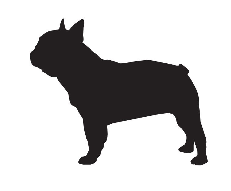 french bulldog removable decal