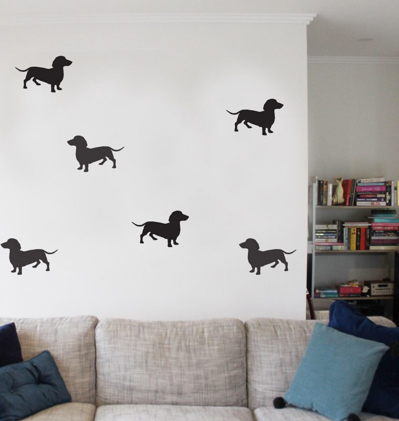 dachshund wall decal