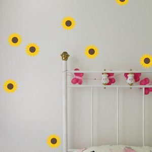 removable sunflower pattern decals