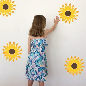 sunflower removable kids wall decals