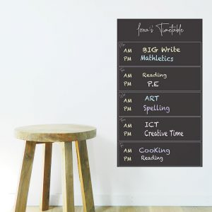 blackboard organiser kids study home school