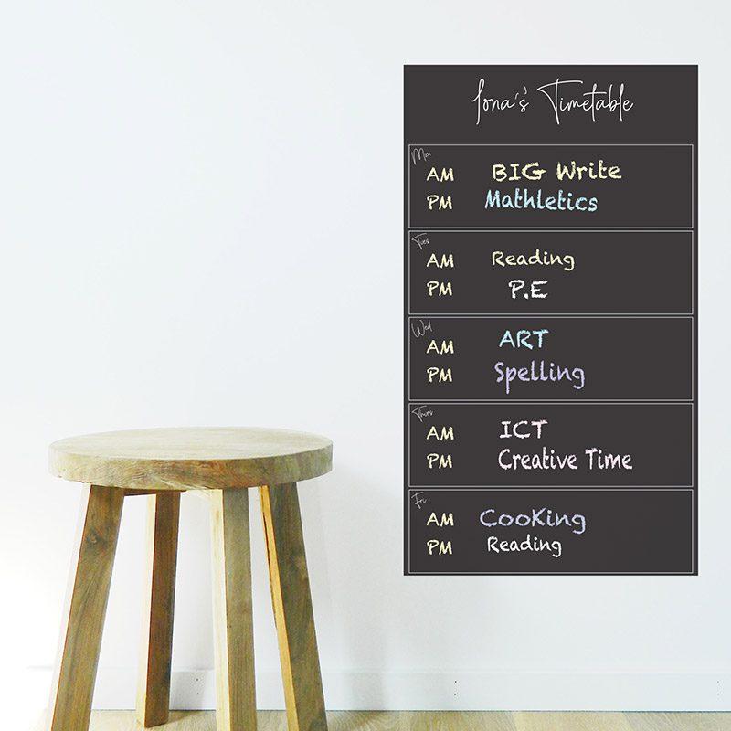blackboard organiser kids study home school