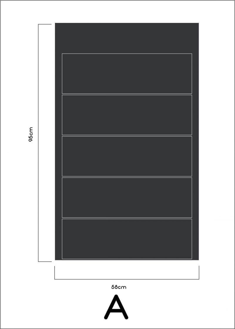 organiser blackboard removable decal