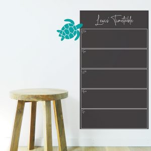 Chalkboard Organiser Wall Decal
