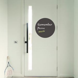 circle chalkboard removable decal