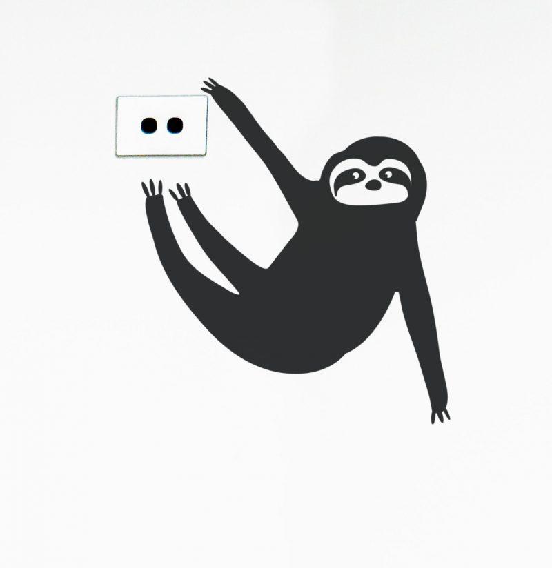 sloth wall decal