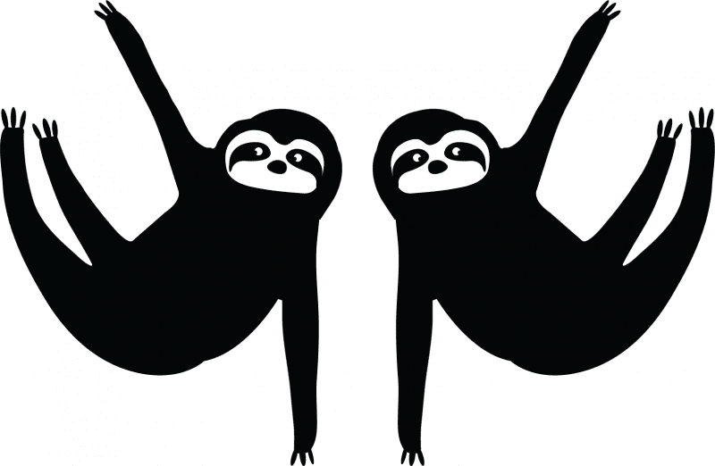 sloth removable decals