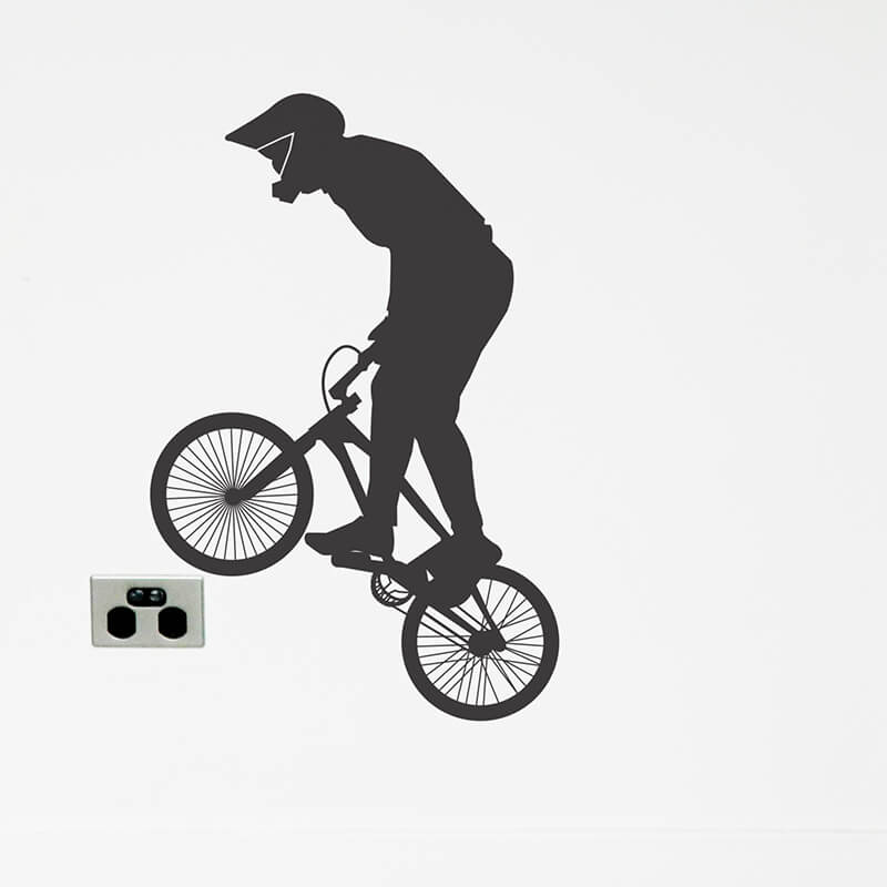 bmx wall decal silhouette