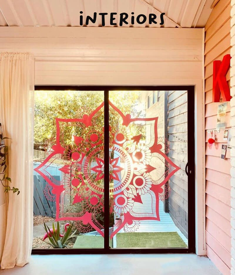 mandala window decal