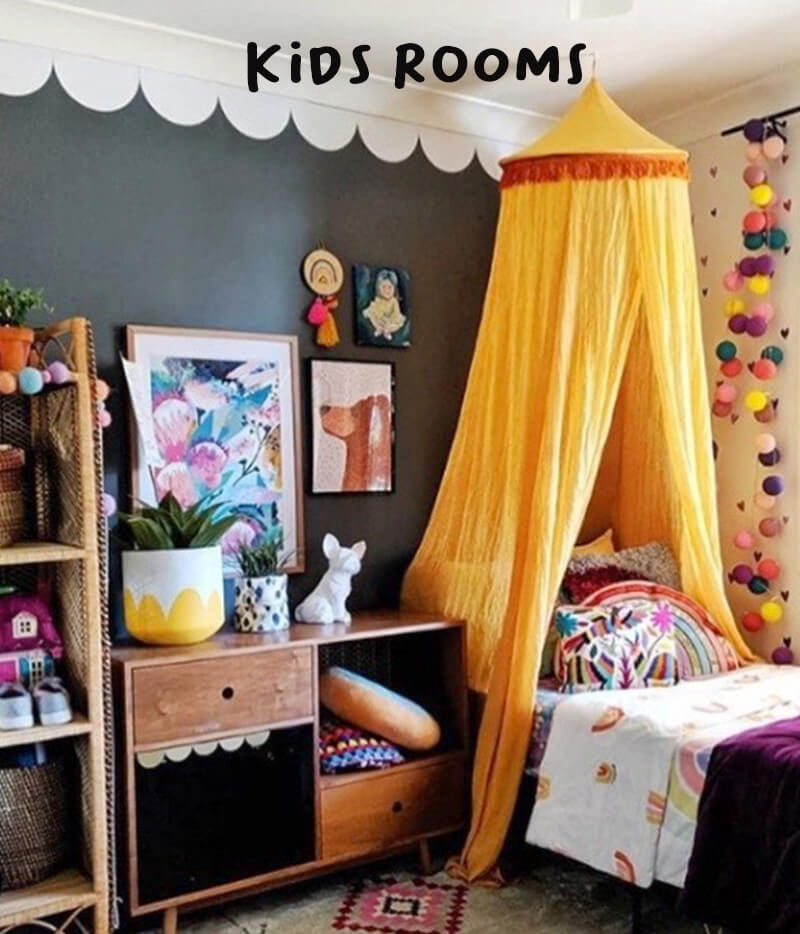 eclectic kids room wall decals