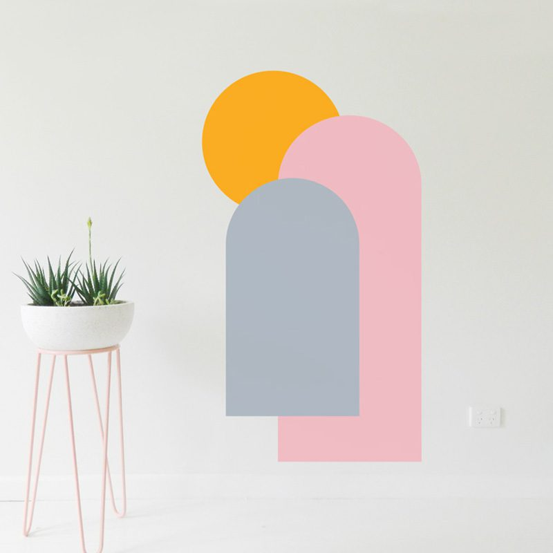 colourful arch decals