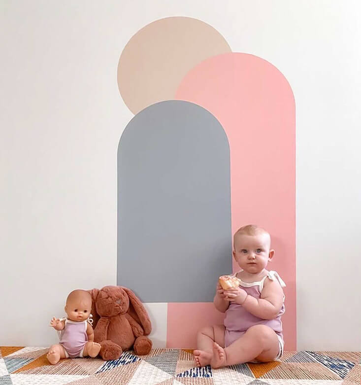 arch wall decals playroom