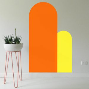 bright coloured arch removable wall decals