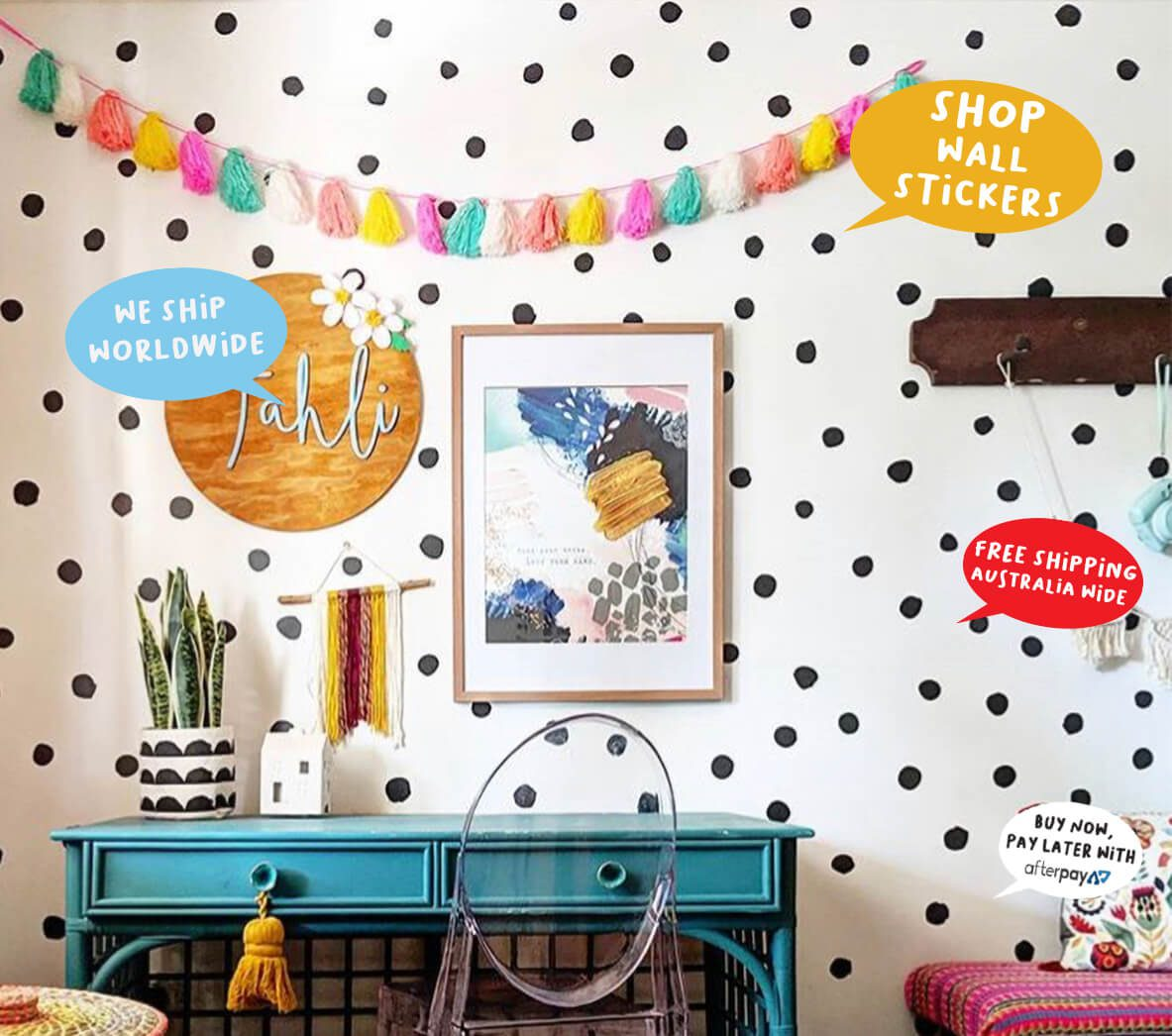 colourful removable wall stickers for rooms you love